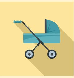 baby pram icon flat style vector image