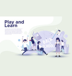 back to school landing page vector image