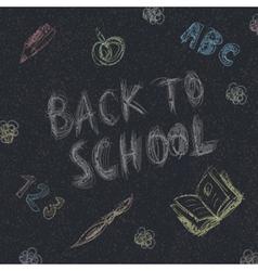 back to school on asphalt vector image