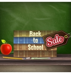 Back to school Sale poster EPS 10 vector image