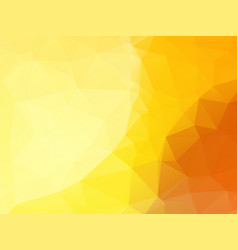 beautifull abstract yellow polygonal background vector image