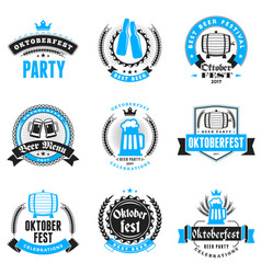 Beer festival oktoberfest celebrations set of vector