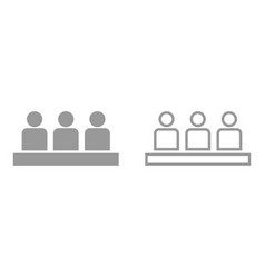 board meeting - business concept it is icon vector image
