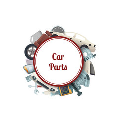 car parts circle with place for text vector image