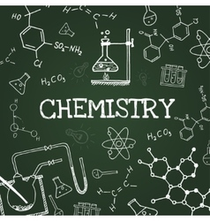 chalk draw chemistry elements vector image