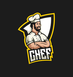 chef logo design with modern vector image