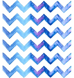 Chevron watercolor blue background vector