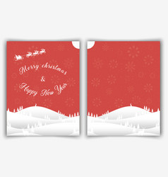 christmas card front and back side vector image