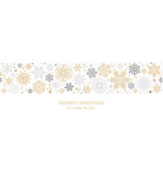 christmas card with snowflake border vector image