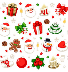 christmas seamless pattern isolated vector image