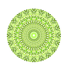 Circular geometrical abstract round petal vector