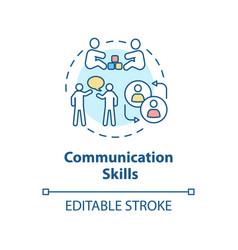 Communication skills concept icon vector