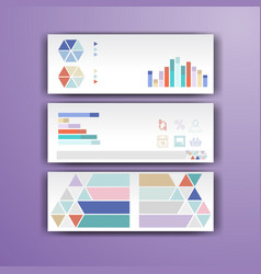 Corporate infographic template with color vector
