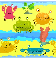 Cute crabs vector