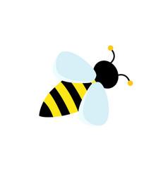 Cute striped bee happy cartoon abstract bee vector
