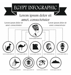 Egypt infographic elements simple style vector image