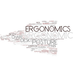 Ergonomics word cloud concept vector