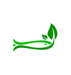 fish plant logo vector image