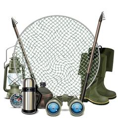 Fishing Frame vector image