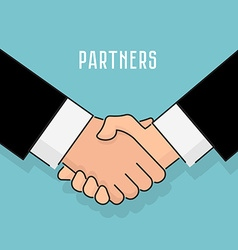 Flat style Handshake businessman agreement vector