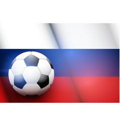Football ball and russia flag vector