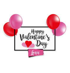 for st valentines day on white background vector image