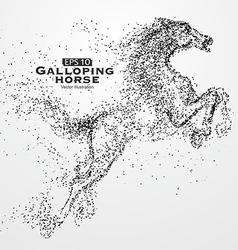 Galloping horse vector