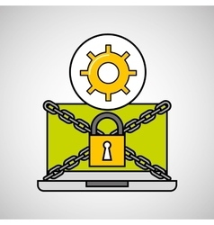 gear security internet technology vector image