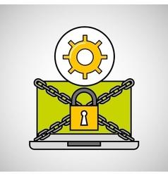 Gear security internet technology vector