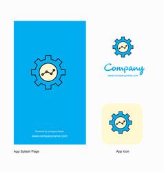 gear setting company logo app icon and splash vector image