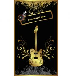gold bass vector image