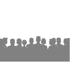 Gray silhouette of people of vector