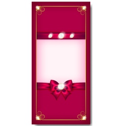 Greeting card pink vector image