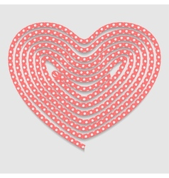 Heart of the folded rope valentines day background vector