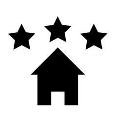 House icon with star sign vector