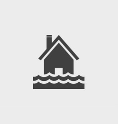 house water flood icon vector image