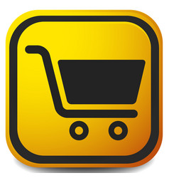icon with shopping cart symbol ecommerce online vector image