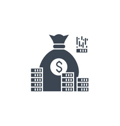 investment related glyph icon vector image