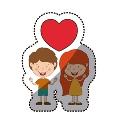 Isolated boy and girl cartoon design vector image