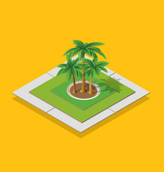 isometric urban environment vector image