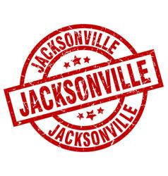 Jacksonville red round grunge stamp vector