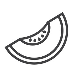 melon line icon fruit and diet graphics vector image