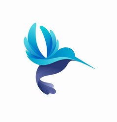 modern colorful hummingbird logo vector image