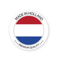 Modern made in holland label vector