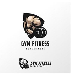 muscle logo design template vector image