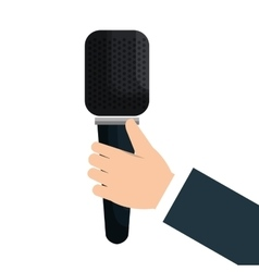 News breaking microphone icon vector