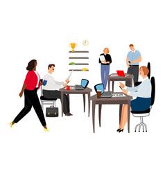 Office life international business team vector