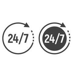 Passage time line and glyph icon 24 hour vector