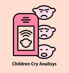 Portable baby cry analyzing vector