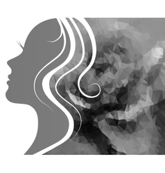 Profile of a beautiful young woman vector image